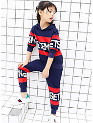 Girls' Color Block Print Sets,Others Fall Clothing Set