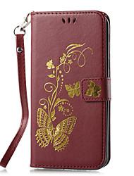 economico -Custodia Per Samsung Galaxy A5(2017) A3(2017) A portafoglio Porta-carte di credito Con supporto Con chiusura magnetica Fantasia/disegno A