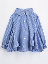 cheap -Girls' Stripes Shirt,Cotton Fall Long Sleeve Blue