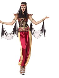 Недорогие -Клеопатра Косплэй Kостюмы Маскарад Жен. Хэллоуин Фестиваль / праздник Костюмы на Хэллоуин Красный Мода