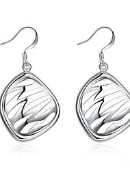Women's Drop Earrings Hoop Earrings Jewelry Fashion Personalized Silver Plated Alloy Geometric Irregular Jewelry For Gift Daily