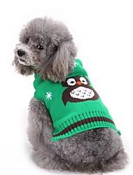 Cane Maglioni Abbigliamento per cani Halloween Animali Arancione Rosso Verde Blu