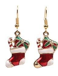 Недорогие -Муж. / Жен. Синтетический алмаз Геометрический принт Серьги-слезки - Мода Красный Назначение Рождество / Повседневные