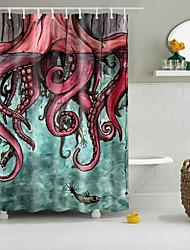 PolyesterMaterialwith High Quality Shower Curtains & Hooks