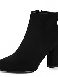 Damen Stiefel Komfort Neuheit Stiefeletten Herbst Winter Kunstleder Normal Schleife Blockabsatz Schwarz Grau Gelb 7,5 - 9,5 cm