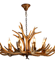 cheap -Artistic Chic & Modern Retro Chandelier For Bedroom Shops/Cafes AC 220-240 AC 110-120V Bulb not included