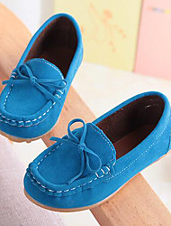 cheap -Boys' Shoes Suede Summer Fall Moccasin Comfort Loafers & Slip-Ons Bowknot For Casual Party & Evening Wine Blue Brown Fuchsia Yellow