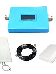 Inteligente gsm 900mhz w-cdma 2100mhz regulador de sinal de telefone celular 2g 3g repetidor de sinal com painel antena / log antena