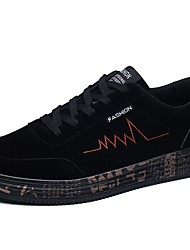 cheap -Women's Shoes PU(Polyurethane) Spring / Fall Comfort Sneakers Flat Heel Round Toe Lace-up Black / Red / Black / Yellow