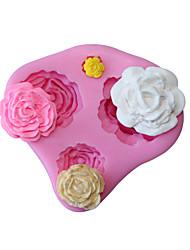 Недорогие -3d роза цветок силиконовая форма помада торт украшение шоколад печенье выпечки инструменты