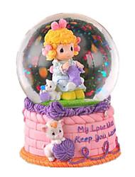 abordables -Balles Boîte à musique Boule à neige Canard Dessin Animé Classique Adultes Enfants Cadeau Unisexe