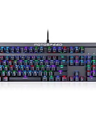 cheap -motospeed ck103 Wired RGB Backlit Blue Switches 104 Mechanical Keyboard Backlit Programmable