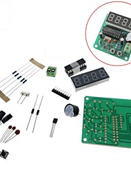 cheap -4 Bits Digital LED Electronic Clock Production Suite DIY Kits Set