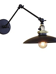 abordables -Simple Vintage Retro Campestre Luces del brazo oscilante Para Metal Luz de pared 110-120V 220-240V 40W