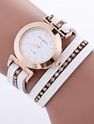 baratos -Mulheres Relógio de Moda Bracele Relógio Único Criativo relógio Chinês Quartzo PU Banda Boêmio Pendente Casual Elegantes Preta Branco