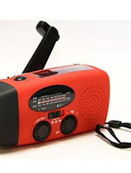HY-088WB Tragbares Radio Solarenergie Taschenlampe Rot