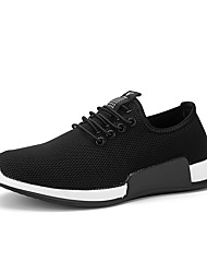 cheap -Men's Athletic Shoes Moccasin Comfort Summer Fall Knit Running Shoes Athletic Casual Outdoor Gore Flat Heel Red Black Flat
