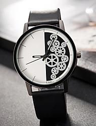 abordables -Mujer Cuarzo Reloj de Pulsera Gran venta PU Banda Encanto Lujo Creativo Casual Reloj creativo único Elegant Moda Cool Negro Marrón Gris