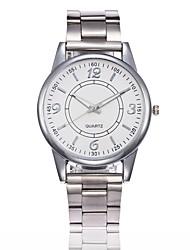 abordables -Hombre Mujer Cuarzo Reloj de Pulsera Chino Gran venta Aleación Banda Casual Reloj creativo único Reloj de Vestir Moda Plata Dorado Oro