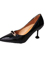 Women's Heels Basic Pump Fall Winter PU Party & Evening Dress Red Gray Black 1in-1 3/4in