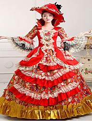 Sorcière Princesse Reine Costumes de Cosplay Halloween Carnaval Nouvel an Fête / Célébration Déguisement d'Halloween Rouge Imprimé
