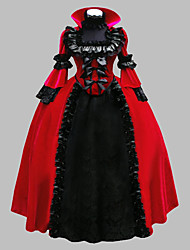 Cosplay Costumes Wizard/Witch Princess Queen Cinderella Goddess Santa Suits Vampire Festival/Holiday Halloween Costumes Red Solid Color