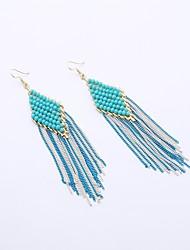 Dame Stangøreringe Dråbeøreringe Krystal Mode Krystal Rustfrit Stål Geometrisk form Smykker Til Afslappet I-byen-tøj