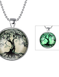 cheap -Men's Women's Tree of Life Fashion Pendant Necklace Jewelry Silver Plated Pendant Necklace , Daily
