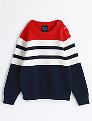 preiswerte -Jungen Bluse Streifen Baumwolle Herbst Lange Ärmel