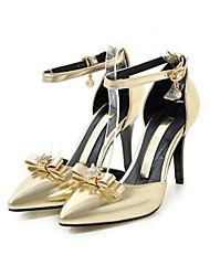 Damen Schuhe PU Frühling Herbst Komfort Neuheit High Heels Stöckelabsatz Spitze Zehe Schleife Schnalle Für Hochzeit Party & Festivität