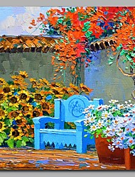 Garden 100% Hand Painted Contemporary Oil Paintings Modern Artwork Wall Art for Room Decoration