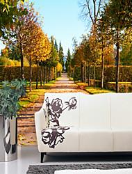 Недорогие -дерево Природа и пейзажи Лист Украшение дома Пастораль Стиль Modern Облицовка стен, холст материал Клей требуется фреска, Обои для дома