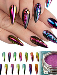 8Bottles  Shining Glitter Powder  Decoration Mirror Effect Nail DIY