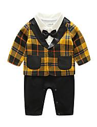 bebê Para Meninos Casual Xadrez Conjunto,Xadrez Outono