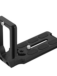 mpu105 liga de metal preto universal liberação rápida l chapa de suporte de cartão com cabeça de tripé com montagem de parafuso de 1/4