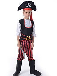 Pirate Outfits Kid Christmas Halloween Festival / Holiday Halloween Costumes Patchwork