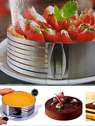 Moules de gâteau de 1 morceau rond moule de gâteau d'outil de cuisson d'acier inoxydable de gâteau, outil de traitement au four