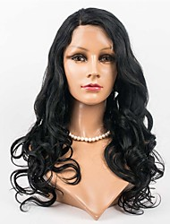 cheap -Women Synthetic Wig Lace Front Long Body Wave Dark Brown Black Dark Black Medium Brown Natural Wigs Costume Wig