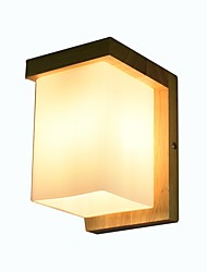 cheap -Modern/Contemporary Wall Lamps & Sconces For Wood/Bamboo Wall Light 110-120V 220-240V 3W