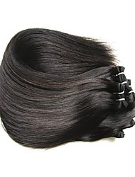 cheap -Natural Color Hair Weaves Brazilian Texture Straight hair weaves