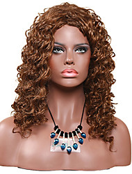 Women Synthetic Wig Capless Medium Curly Jheri Curl Light Brown Lolita Wig Drag Wig Party Wig Celebrity Wig Halloween Wig Carnival Wig