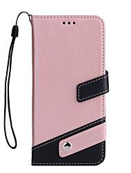 Недорогие -Кейс для Назначение Apple iPhone X iPhone 8 Бумажник для карт Кошелек со стендом Флип Чехол Сплошной цвет Твердый Кожа PU для iPhone X