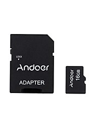 Andoer 16GB Class 10 Memory Card TF Card  Adapter  Card Reader USB Flash Drive for Camera Car Camera Cell Phone Table PC GPS
