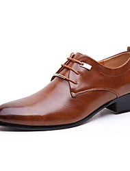 cheap -Men's Shoes Leather Spring / Fall Formal Shoes Oxfords Black / Brown