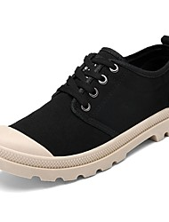 Men's Shoes Fabric Spring Fall Light Soles Sneakers Lace-up For Casual Yellow Dark Blue Black