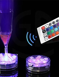 cheap -Remote Control Candle Led Light 10 Leds  Color Change   Waterproof Electronic Candle Lighting Fish Tank Lamp Festival Home Decor Crafts