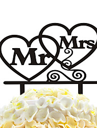 Acrylic Cake Inserts Two Heart Cake Decoration Ornaments