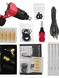 cheap -Tattoo Machine Professional Tattoo Kit 1 rotary machine liner & shader High Quality 1 x alloy grip 5 Classic Daily