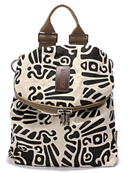 cheap -Women Bags Cotton Backpack Zipper for Casual All Seasons White