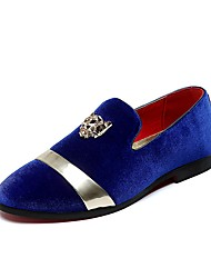 Men's Shoes Suede Fall Winter Comfort Loafers & Slip-Ons Sparkling Glitter For Casual Party & Evening Royal Blue Black